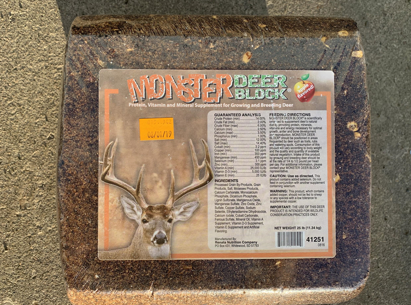 25 lb, Monster Deer Nutrition Block